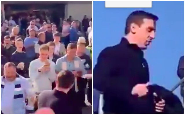 (Video) Neville abused & soaked by City fans in Brighton