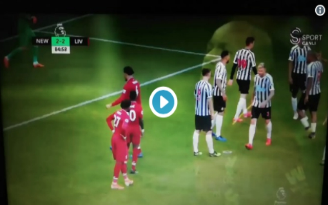 (Video) – Van Dijk orders Shaqiri to take free-kick which leads to late match-winning goal
