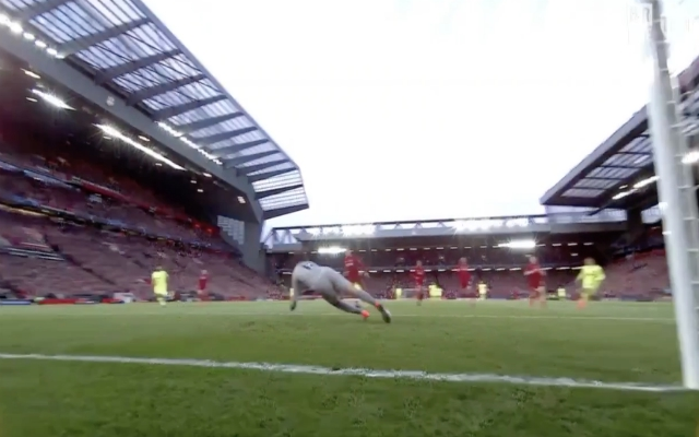 (Video) – Alisson makes agile diving save to keep out Coutinho in 1st half