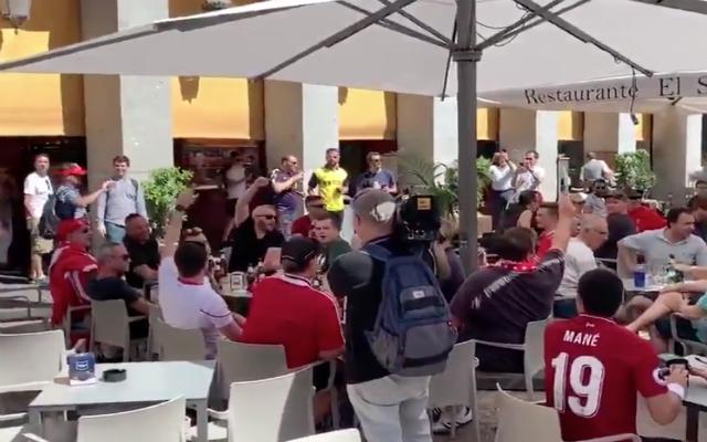 "(Video) – Reds fans belt out ""Allez, Allez, Allez"" in the heart of Madrid"