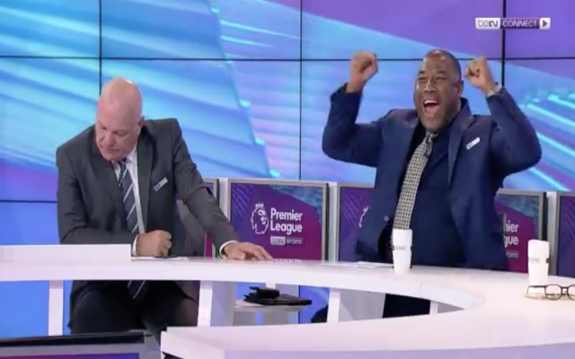 (Video) – John Barnes celebrates Origi goal like every Red; Andy Gray is all other fans