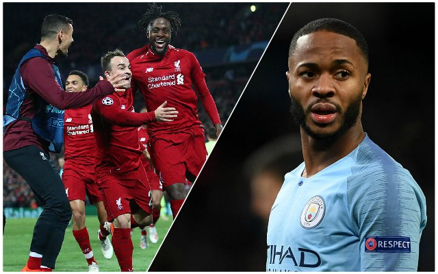 """Buzzing"": Raheem Sterling's classy reaction to Reds' Champions League comeback"