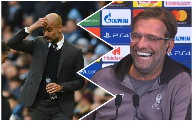Jurgen Klopp's cheeky response to Pep Guardiola's big Champions League claim