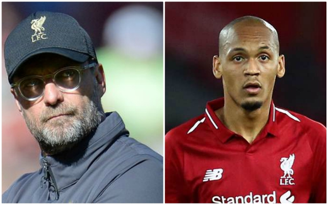 Klopp surprisingly names Fabinho as 'not at the top of his game'