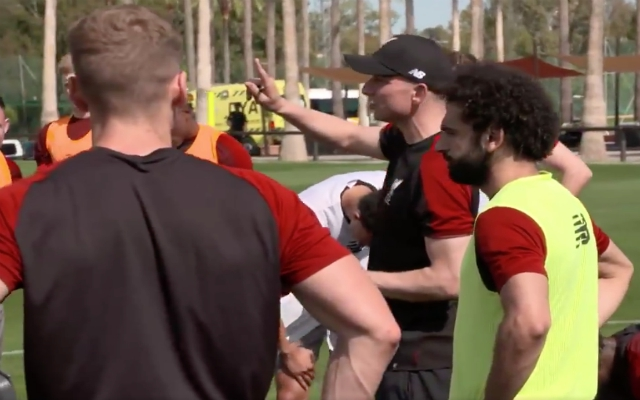 (Video) Salah can't score.. Amazing insight into rules LFC use in 6-a-side games