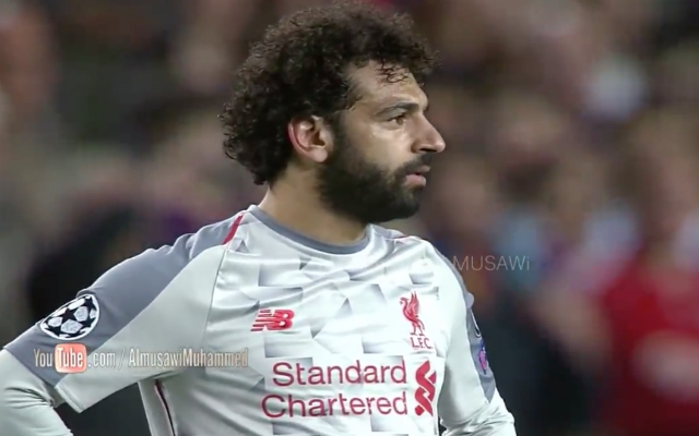 (Video) New Footage shows Salah's Nou Camp reaction to Messi's goals; Makes Anfield comeback even sweeter