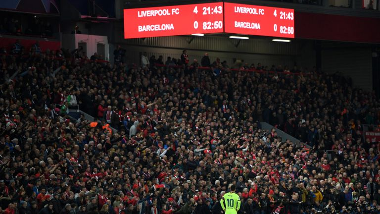 LFC's thrashing of Barcelona the most viewed YouTube video in the UK in 2019