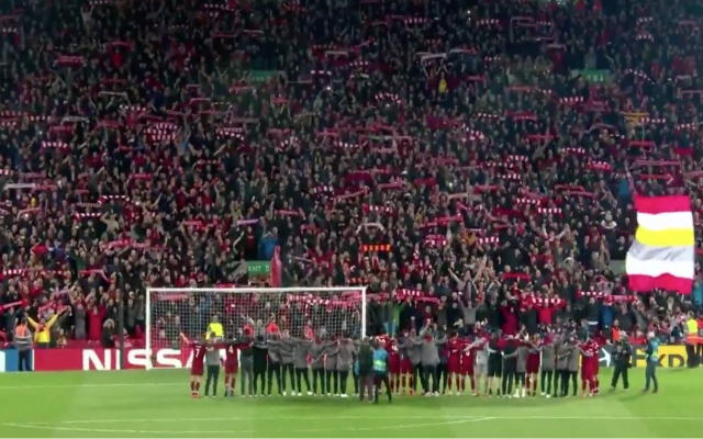 Jurgen Klopp wins coaching award for post-match YNWA with players & fans after Barca comeback