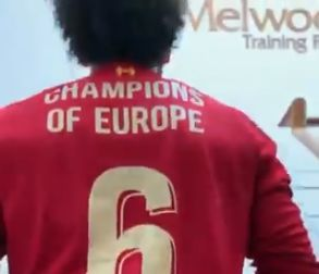 (Video) Lovren loves Salah's shirt celebrating UCL triumph