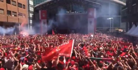 (Video) Reds fans in Madrid sing spine-tingling rendition of YNWA