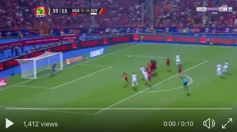 (Video) Mo Salah scores stunning, must-watch free-kick to give Egypt the lead against Uganda at AFCON