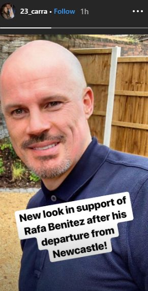 LFC legend shares photo of surprising new look in support of Rafa Benitez