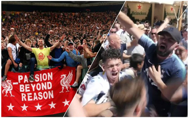 """Quality people"": Spurs fans in Madrid heap praise on Reds supporters"