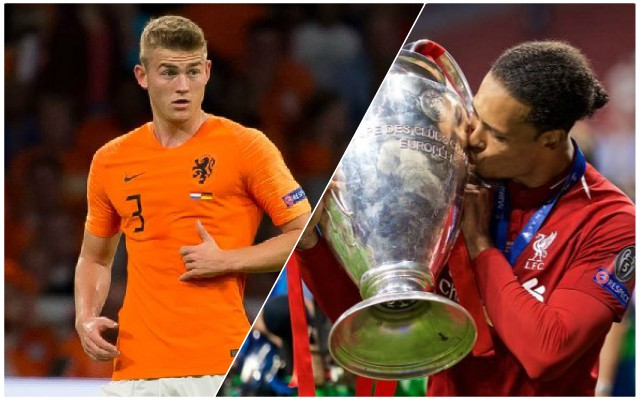 Van Dijk jumps to De Ligt's aid after wonderkid's dodgy Juve start
