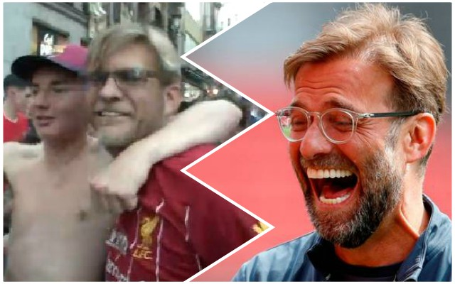 (Video) Amazing: Klopp lookalike mobbed by Reds fans in Madrid ahead of CL final
