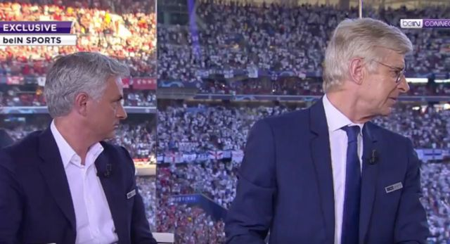 Video: Mourinho and Wenger in awe of LFC fans as amazing rendition of YNWA belted out ahead of CL final