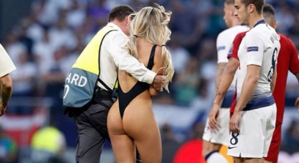 Champions League pitch invader claims she distracted Spurs star