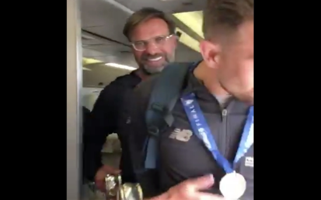 (Video) – New footage shows victorious Reds landing back from Madrid