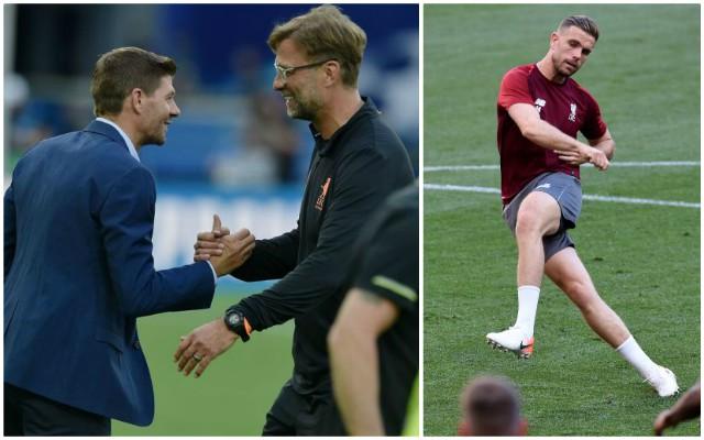 "Gerrard implores Klopp to start ""selfless"" midfielder in CL final"