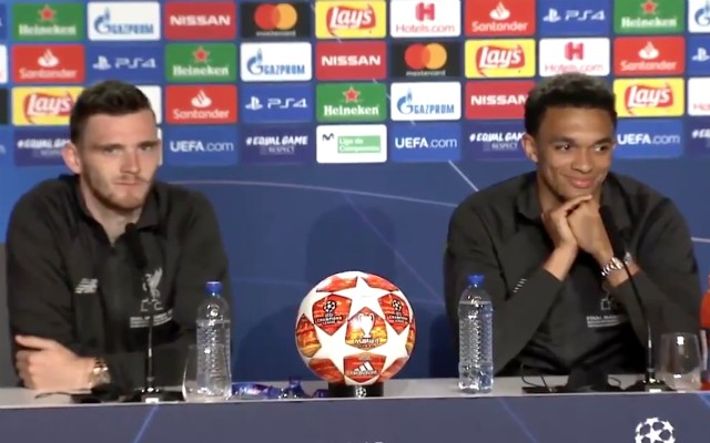 (Video) – Robbo and Trent simultaneously smirk at amazing assist stats