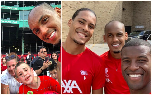 Fabinho praised for what he did in America after LFC's open practice