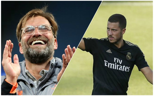 Klopp happy Hazard doesn't play for Chelsea anymore