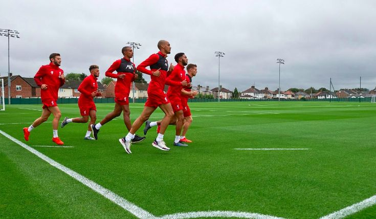 Liverpool have built toilets on the pitch to help social distancing at Melwood