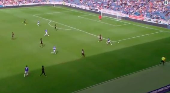 (Video) Ojo's classy assist for Defoe diving header as Rangers batter Marseille 4-0