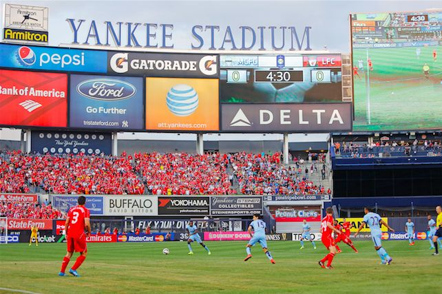 Reds take on Sporting Lisbon at Yankees Stadium