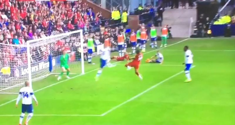 (Video) Brewster scores instinctive brace for Liverpool v. Tranmere