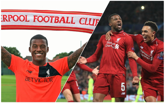Gini Wijnaldum sends heartfelt message to Reds fans to mark three-year Anfield anniversary