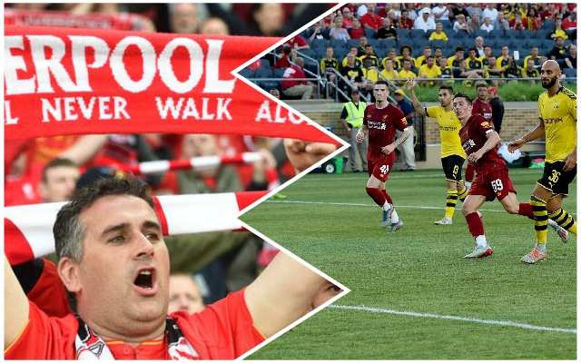 (Video) USA Reds deliver amazing rendition of YNWA prior to Dortmund clash