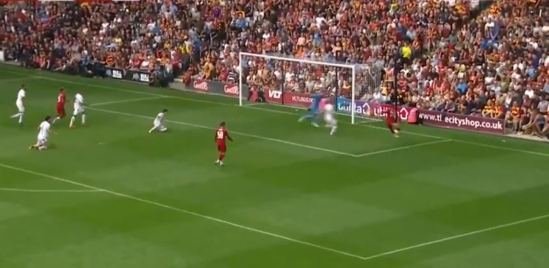 (Video) Brewster scores from the tightest of angles for LFC v. Bradford
