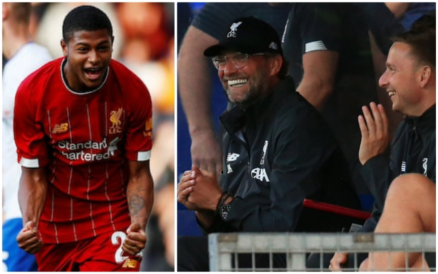 "Klopp refuses to ""play down"" Brewster as youngster primed for big LFC future"