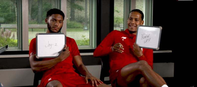 (Video) Hilarious quiz ft. van Dijk, Gomez, Ox & Brewster delivers memes aplenty