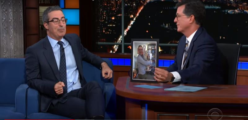 (Video) US comedian John Oliver waxes lyrical about LFC on 'The Late Show'