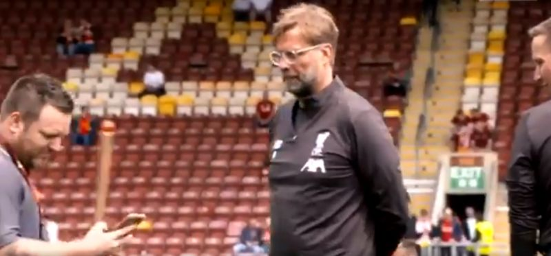 (Video) Klopp shows his class at Valley Parade with what he does with groundsman