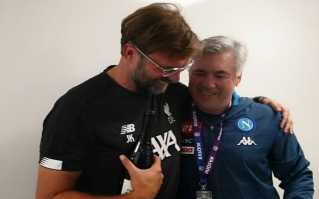 (Photo) Ancelotti congratulates Klopp on CL win before KO at Murrayfield