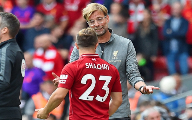 'Downbeat' Shaqiri says being at Liverpool 'is not easy for me'