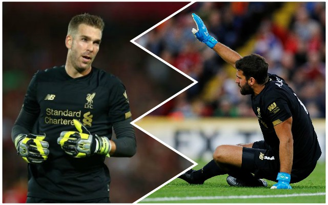LFC's plan for Adrian sadly suggests Alisson return a while off