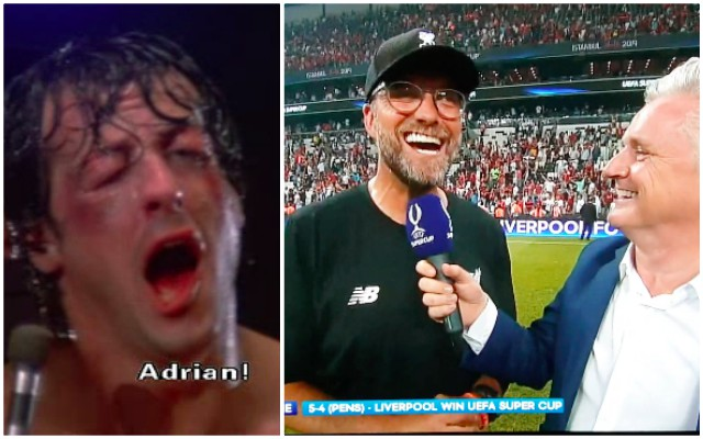 (Video) 'Yo Adrian!' Klopp's hilarious Rocky impression following keeper heroics