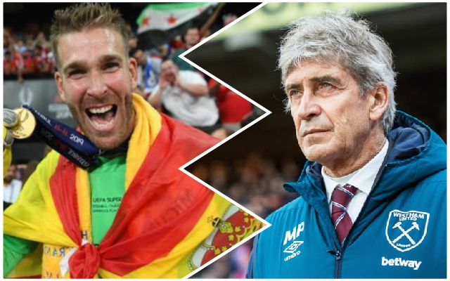 Pellegrini heaps praise on Adrian after Super Cup showing and says West Ham wanted to keep the goalkeeper