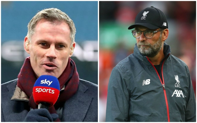 (Video) Klopp sends for Carra after CB comments: 'There's a reason they don't do this job…'