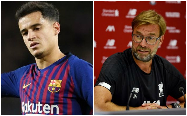 Jurgen Klopp responds to question about whether Philippe Coutinho was offered to the Reds this summer