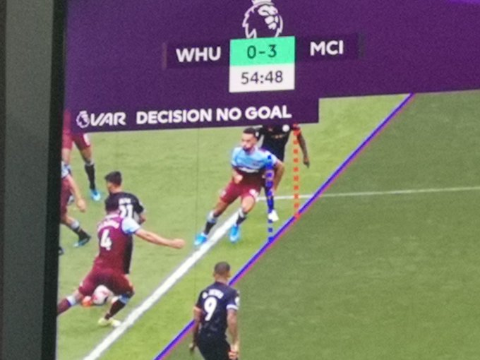(Video) VAR cancels its first Premier League goal to the dismay of Man City