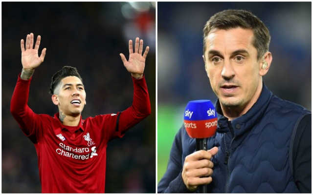 Gary Neville can't hide his admiration for Reds trio as he gushes over Jurgen Klopp's work