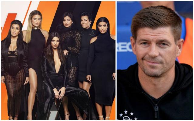 (Video) Gerrard makes brilliant Kardashians comment when choosing between Everton or Man United victory