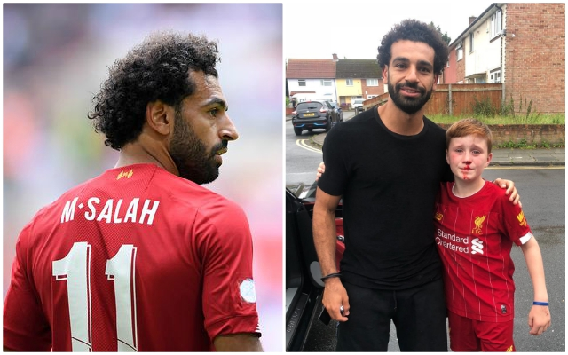 Mo Salah's brilliant reaction when a fan KO'd himself running into a lamppost while chasing his car