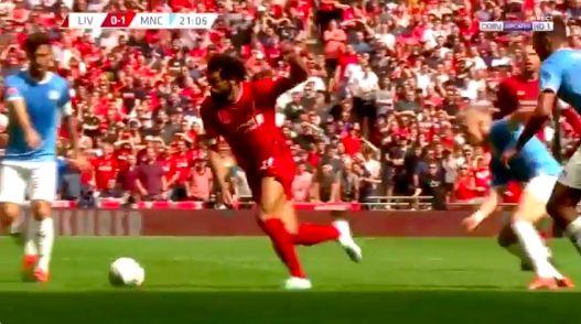 (Video) Salah shows off fancy footwork at Wembley v City