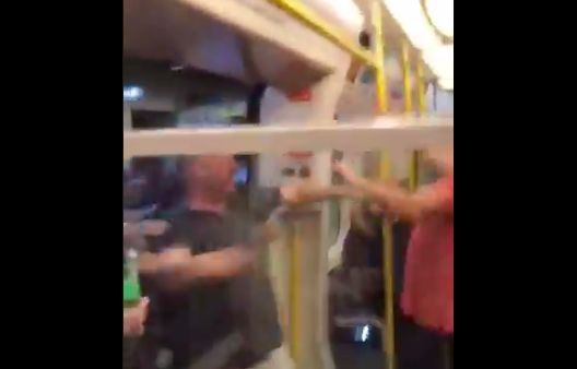 (Video) Nasty fight breaks out on London Underground between City & Liverpool fans